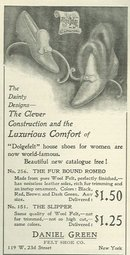 Daniel Green Dolgefelt House Shoes 1901 Magazine Ad