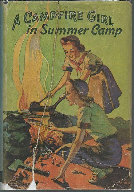 Camp Fire Girl in Summer Camp by Jane Stewart 1914 Girl's Series #3 w/DustJacket