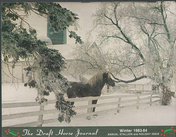 Draft Horse Journal Winter 1983-1984 Annual Stallion and Holiday Issue
