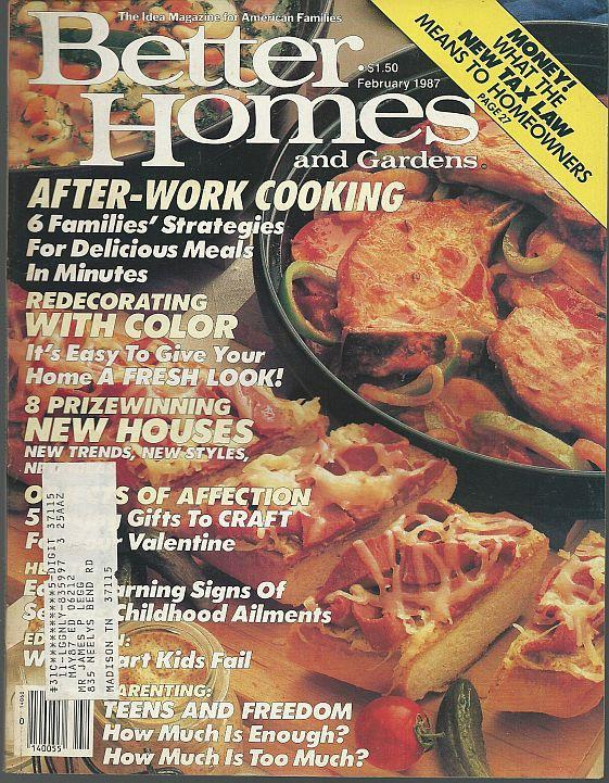 Better Homes And Gardens Magazine February 1987 Valentine