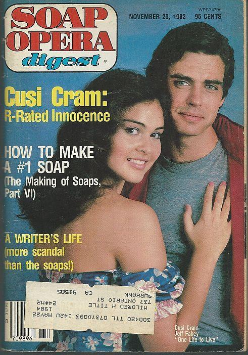 Soap Opera Digest Magazine November 23, 1982 Cusi Cram and Jeff Fahey OLTL Cover