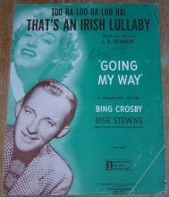 Too-Ra-Loo-Ra-Loo-Ral, That's an Irish Lullaby Sung by Bing Crosby 1944 Music