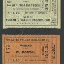 Lot of Two Vintage Railroad Tickets, First Class, Yosemite Valley Railroad Co