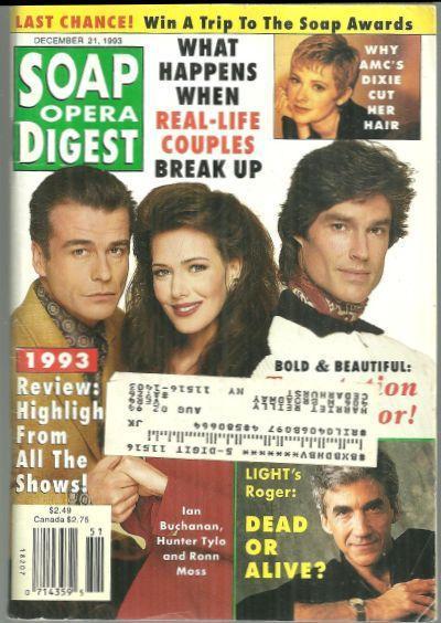 Soap Opera Digest Magazine December 21, 1993 Scotland Yarn on Bold and Beautiful