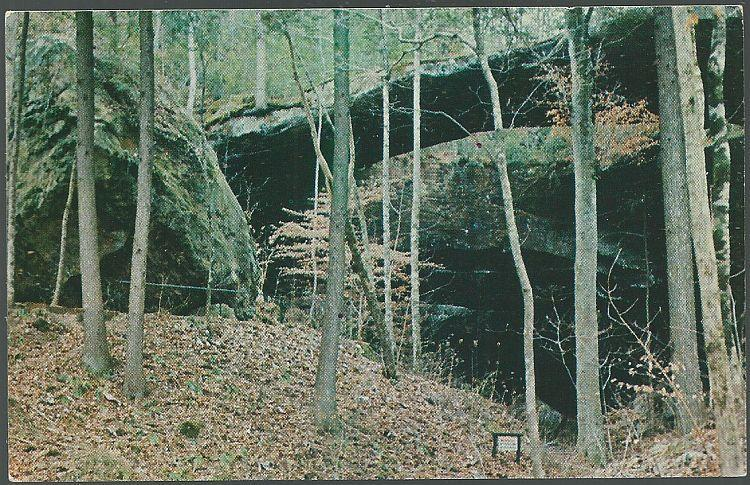 Vintage Unused Postcard of Natural Bridge of Alabama, Located in Winston County
