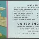 Vintage Ink Blotter For United Engravers Elvgren Pinup Girl Fishing with Dog
