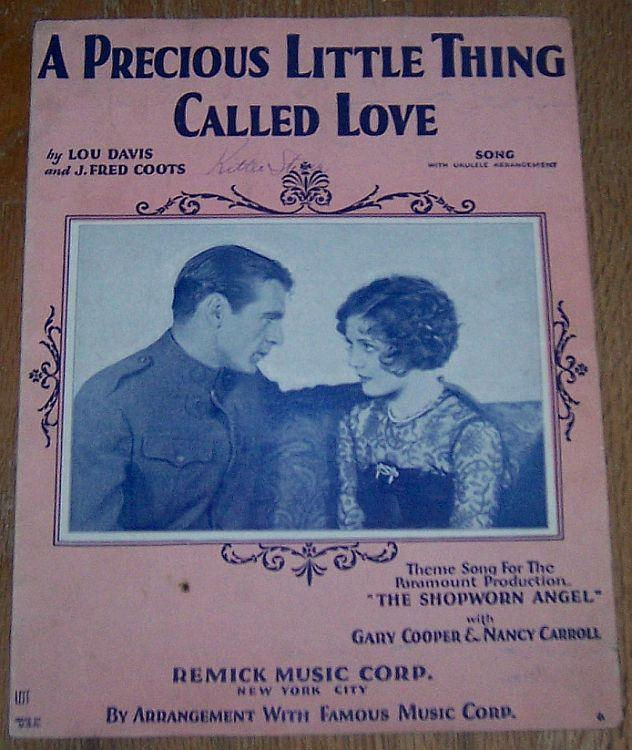Precious Little Thing Called Love From Shopworn Angel with Gary Cooper 1928