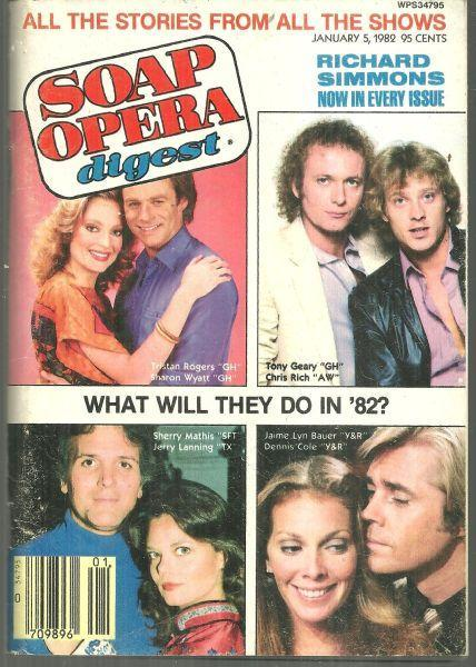 Soap Opera Digest Magazine January 5, 1982 What Will They Do in 1982 on Cover