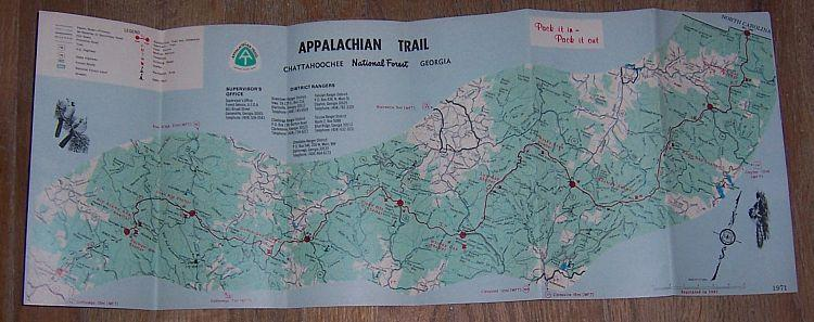 Souvenir Brochure for Appalachian Trail, Chattahoochee National Forest, Georgia