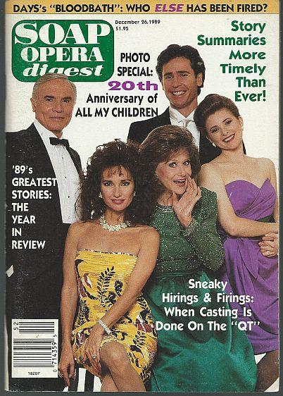 Soap Opera Digest Magazine December 26, 1989 All My Children's 20th Anniversary