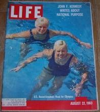 Life Magazine August 22, 1960 US Swimmers Cover/Space/Kennedy/Folklore/Olympics