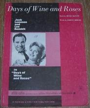 Days of Wine and Roses Starring Jack Lemmon 1962 Music
