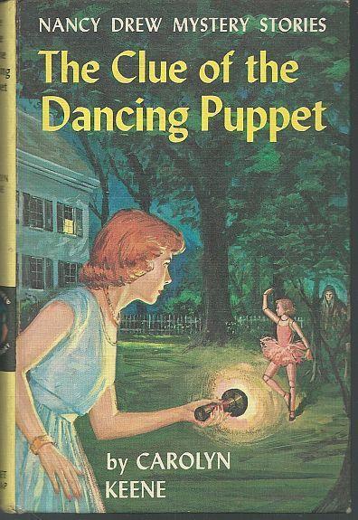 Clue of the Dancing Puppet by Carolyn Keene Nancy Drew #39 1962 Yellow Matte