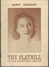 Playbill Happy Birthday July 21, 1947 Starring Helen Hayes and Louis Jean Heydt