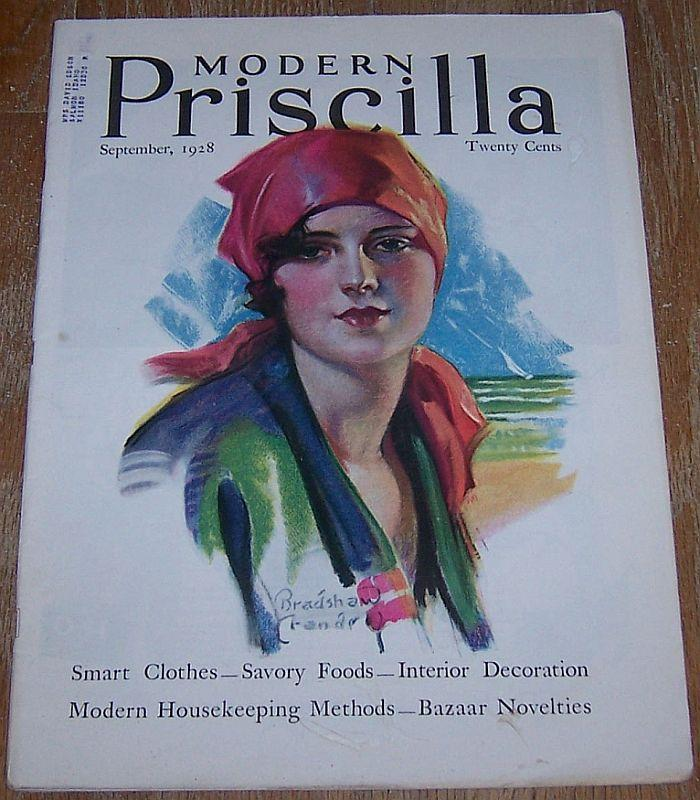 Modern Priscilla Magazine September 1928 Cover by Bradshaw Crandall Lunch/Fruit