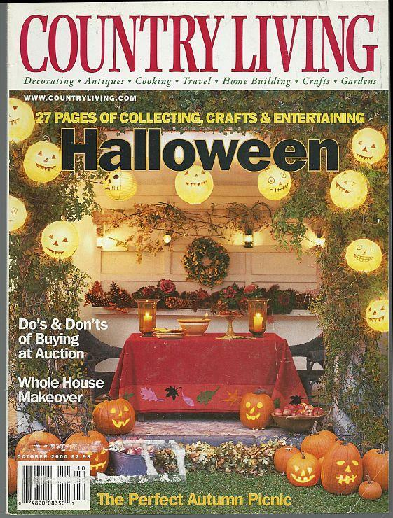 Country Living Magazine October 2000 Halloween Party/Auctions/Autumn Picnic