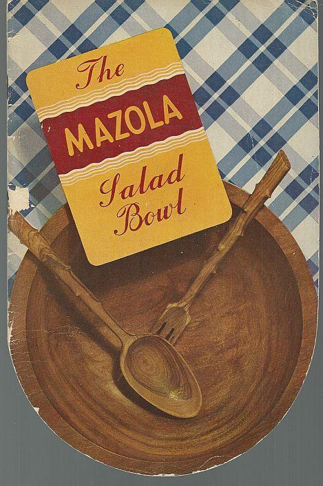 Mazola Salad Bowl 1939 Salad Bowl Shape Recipe Booklet Illustrated