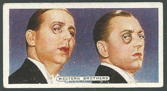 Vintage Ardath Cigarette Card Western Brothers Film Stage and Radio Stars #47