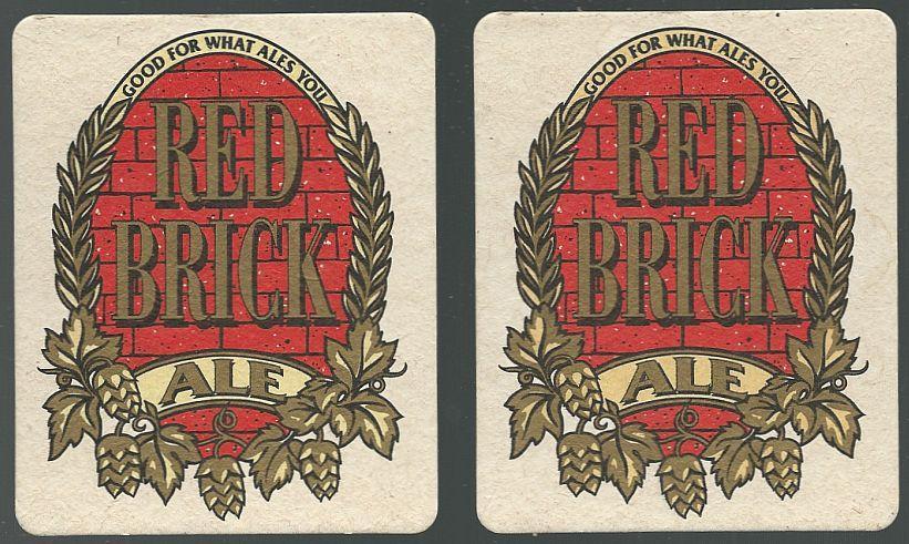 Set of Two Red Brick Ale Beer Mats/Coasters, Atlanta, Georgia