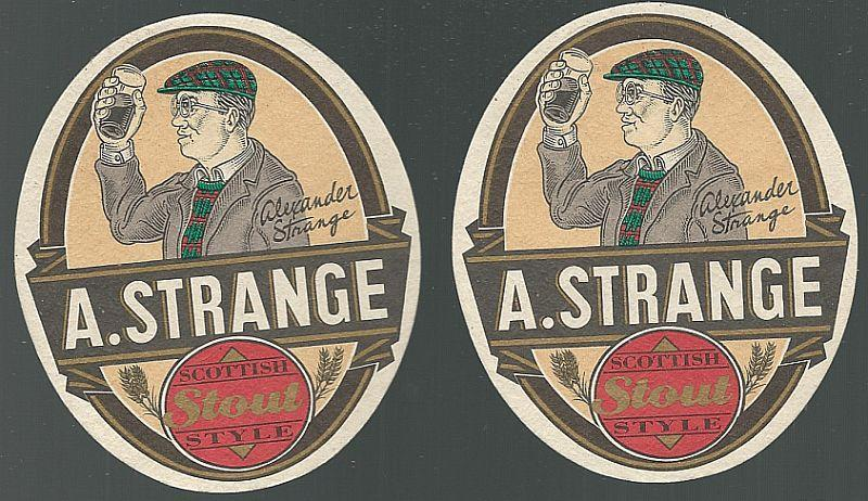 Set of Two A. Stranger Scottish Stout Style Beer Mats/Coasters Big River, Tenn