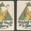 Set of Two Dolphin's Breath Lager Beer Mats/Coasters Ragtime Tavern, Florida