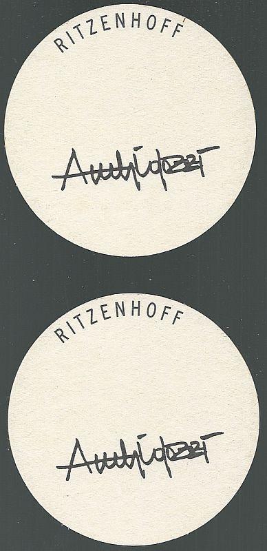 Set of Two Ritzenhoff by Ambrogio Pozzi Beer Mats/Coasters, Germany