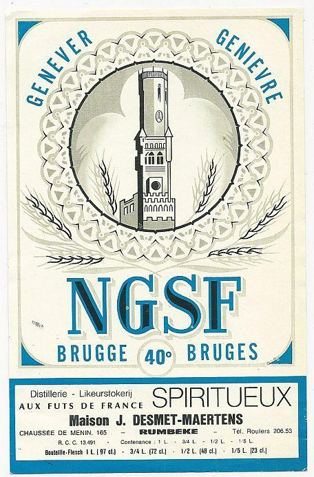 Vintage French Wine Label for NGSF Brugge