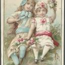 Victorian Trade Card for Vienna Roller Mills Flour Peoria with Two Lovely Girls