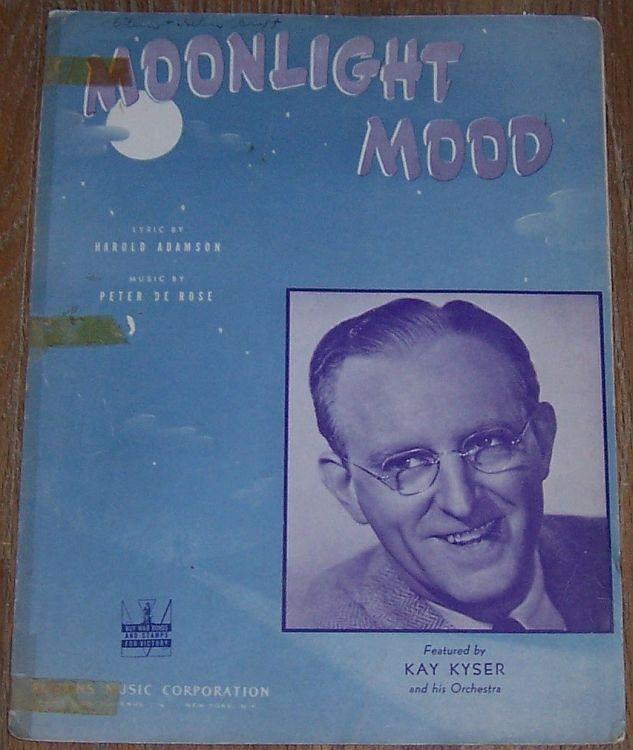 Moonlight Mood Featured by Kay Kyser and His Orchestra 1942 Sheet Music