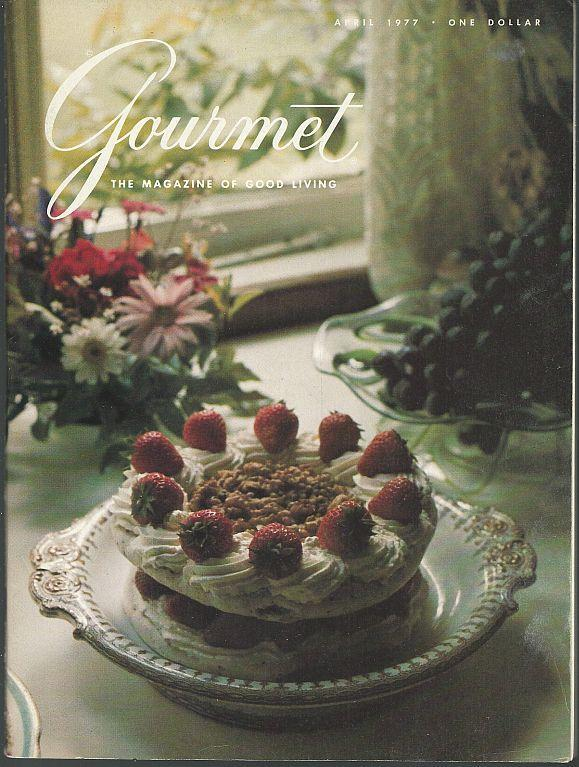 Gourmet Magazine April 1977 Bath and Wells, Sephardic Cookery, Irish Crafts