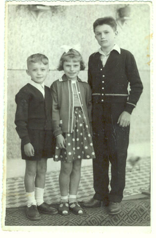 Photograph of Three Hungarian Children
