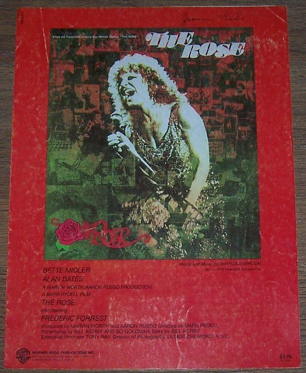 The Rose From Movie The Rose Starring Bette Midler/Alan Bates 1979 Sheet Music