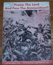 Praise the Lord and Pass the Ammunition by Frank Loesser 1942 Sheet Music