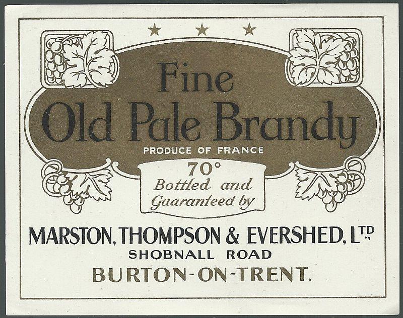Vintage Label for Fine Old Pale Brandy Product of France