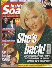 Inside Soap Magazine April 26, 2002 Sharon is Back From Eastenders on Cover