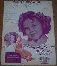 When I Grow Up From Curly Top Starring Shirley Temple and John Boles 1935 Music