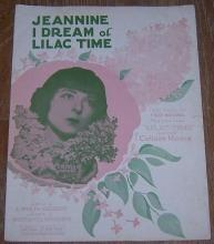Jeannine I Dream of Lilac Time Starring Colleen Moore 1928 Sheet Music