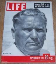 Life Magazine September 12, 1949 Marshal Tito on cover/Bikini/Al Jolson/Rockforder