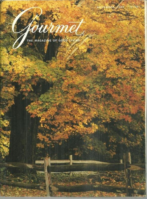 Gourmet Magazine November 1980 Thanksgiving/The Day After Thanksgiving/Ludlow