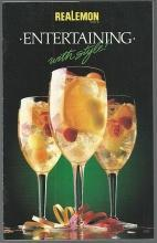 Entertaining with Style with Realemon Drinks Appetizers Salads Main Dishes 1987