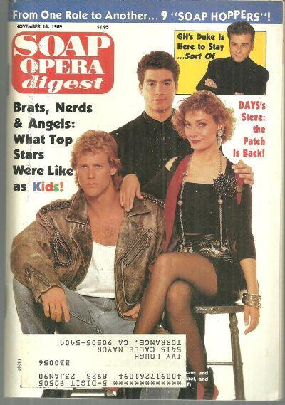 Soap Opera Digest November 14, 1989 Morgan Englund