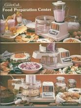 Sears Counter Craft Food Preparation Center Instruction Book and Recipes