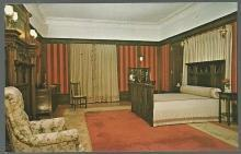 Unused Postcard Modern English Bedroom in the Flagler Museum Palm Beach, Florida