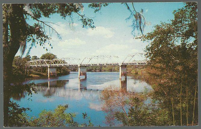 Unused Vintage Postcard of Bridge Over the Suwannee River, Florida