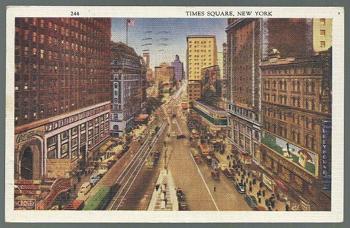 Vintage Postcard of Times Square, New York City, New York 1933