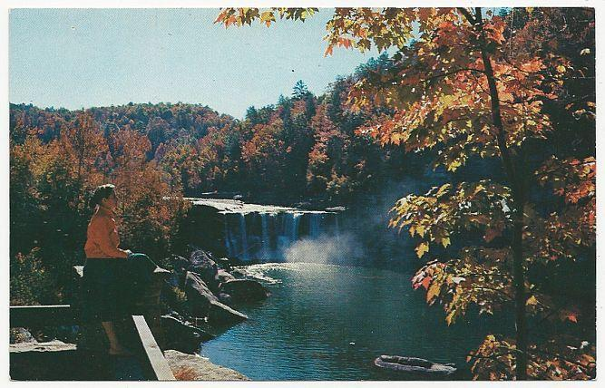 Unused Postcard of Cumberland Falls, Cumberland Falls State Park, Kentucky