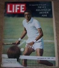 Life Magazine September 20, 1968 Arthur Ashe on the Cover/The Beatles/Olympics