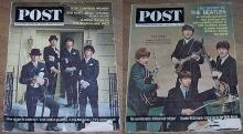 Lot of Two Saturday Evening Post Magazines with The Beatles 1962 and 1964