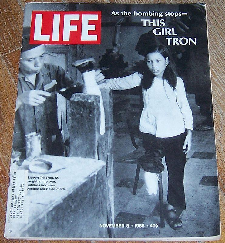 Life Magazine November 8, 1968 As the Bombing Stops This Girl Tron on cover