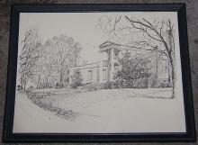 Vintage Framed Print of Burritt Museum, Monte Sano, Huntsville, Alabama